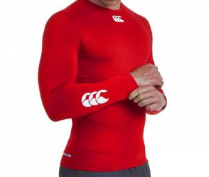 Baselayer cold manches longues rouge