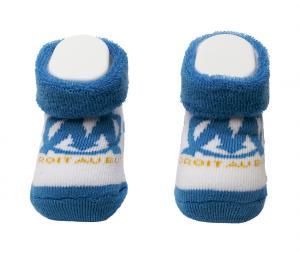 Chaussons Bébé OM Bleu-Blanc