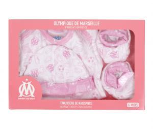 OM Baby Girl Birth Set White/Pink