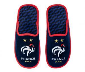 Pantoufles France Fan Bleu