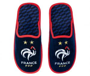Pantoufles France Fan Bleu Junior