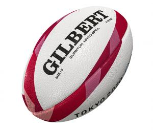 Ballon Gilbert Jeux Olympiques Tokyo T.5 Blanc/Rouge