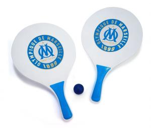 Set OM Beach Tennis with ball White/Blue