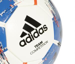 Ballon adidas Team Competition T.5 Blanc/Bleu