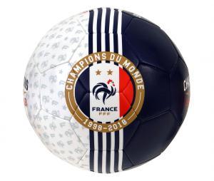 Ballon France Champions Du Monde 1998-2018 T.5 Bleu/Blanc