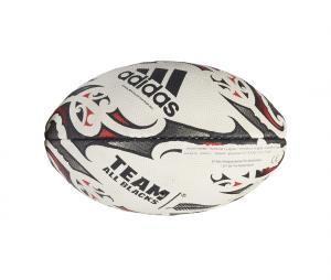 Mini Ballon adidas Rugby All Blacks Blanc