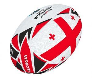 Ballon Gilbert Géorgie Coupe du Monde de Rugby 2019 T.5 Blanc