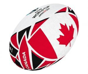 Ballon Gilbert Coupe du Monde de Rugby 2019 Canada T.5 Blanc