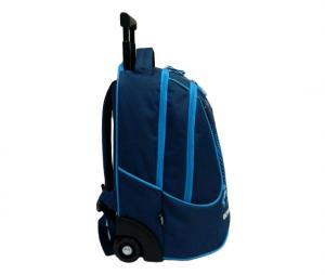 OM Backpack with wheels 47 cm Blue