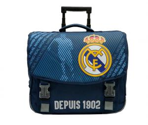 Cartable à roulettes Real Madrid Bleu Junior