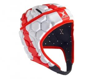Casque Gilbert Falcon 200 Angleterre Rouge/Blanc