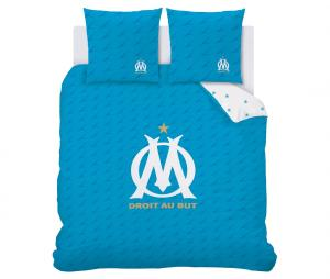 OM Duvet Cover Double bed + 2 Pillowcases Blue/ White