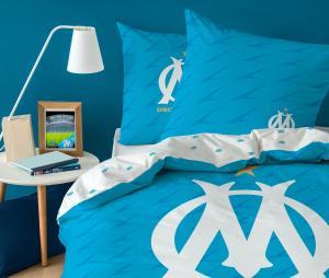 OM Duvet Cover Single Bed + 1 Pillowcase Blue/White