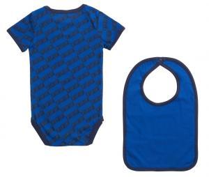 Lot Body + Bavoir France All Over Bleu