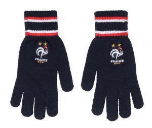 Gants Supporter France Logo Bleu