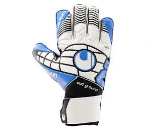 Gants Gardien Uhlsport Eliminator Soft Pro Blanc/Bleu