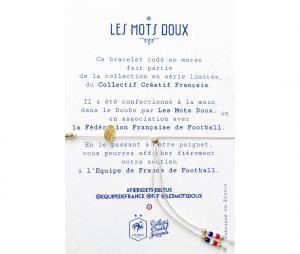 Bracelet code morse : Bleus - Les Mots Doux x Equipe de France