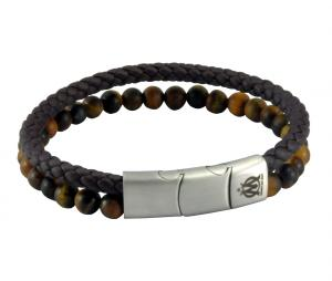 OM Leather + Pearl Bracelet