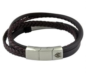 Bracelet OM 4 motifs cuir