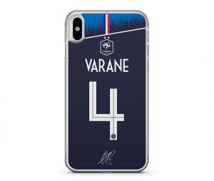 Coque FFF Raphaël Varane Domicile Bleu