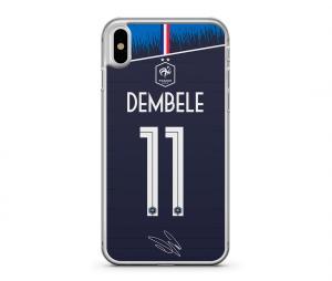 Coque FFF Ousmane Dembélé Domicile Bleu