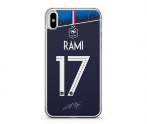 Coque FFF Adil Rami Domicile Bleu