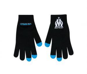 OM Logo Kid's Gloves Black