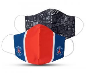 Lot de 2 Masques de protection PSG Noir/Rouge Junior