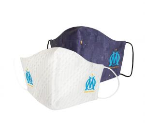 Lot de 2 Masques de protection OM Bleu/ Blanc Junior