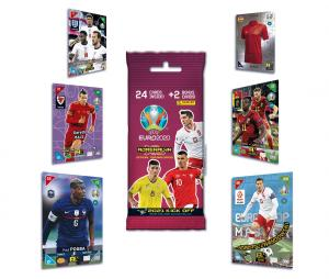 24 cartes + 2 Cartes rares Panini UEFA Euro 2020 ADRENALYN XL 2021 Kick Off