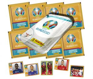 Boite en Métal de 40 Stickers Panini UEFA EURO 2020 TOURNAMENT EDITION