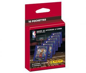 50 stickers + 10 cartes Panini NBA 2020-21