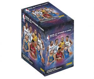 Boîte 250 stickers et 50 cartes  Panini NBA 2020-21