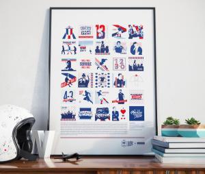 Affiche  Fiers d'être Bleus - La Majorette à Moustache x Equipe de France