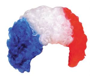 Perruque Supporter France Bleu/Blanc/Rouge