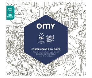 Poster Géant à colorier - OMY x Equipe de France