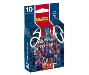 40 Stickers + 10 Cartes Panini PSG 50ème Anniversaire 2021