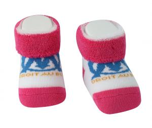 Baby Slippers OM Pink/White