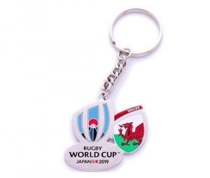 Porte-clés Pays de Galles RWC Japan 2019 blanc
