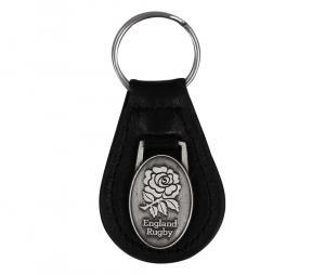 Porte-clés cuir logo XV de la Rose