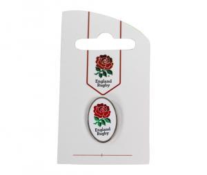 Pin's logo XV de la Rose Angleterre ovale blanc