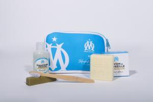 Trousse de toilette Rampal.Latour x OM Bleu/Blanc