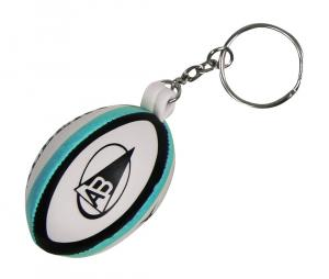 Porte-clés ballon Gilbert mousse de l'Aviron Bayonnais Blanc/Bleu