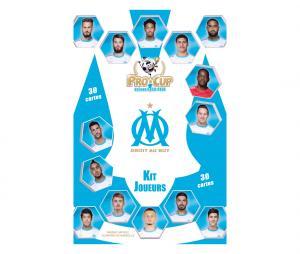 30 cartes originales de l'Olympique de Marseille Saison 2020-2021