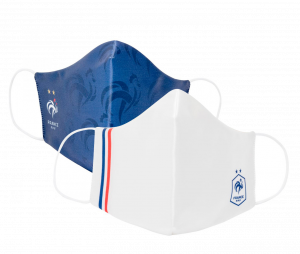 Lot de 2 Masques de protection France Bleu/Blanc