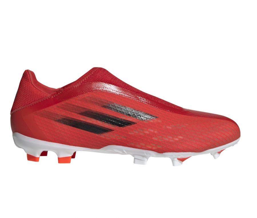 adidas X Speedflow 3 Laceless FG Rouge