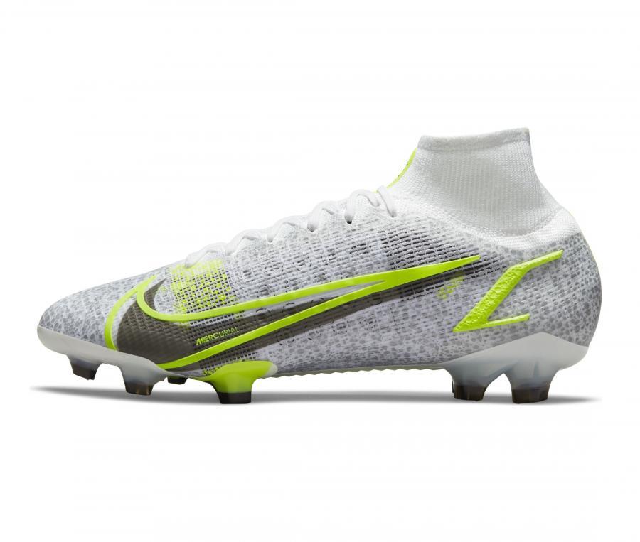 Nike Mercurial Superfly VIII Elite DF FG Blanc/Gris