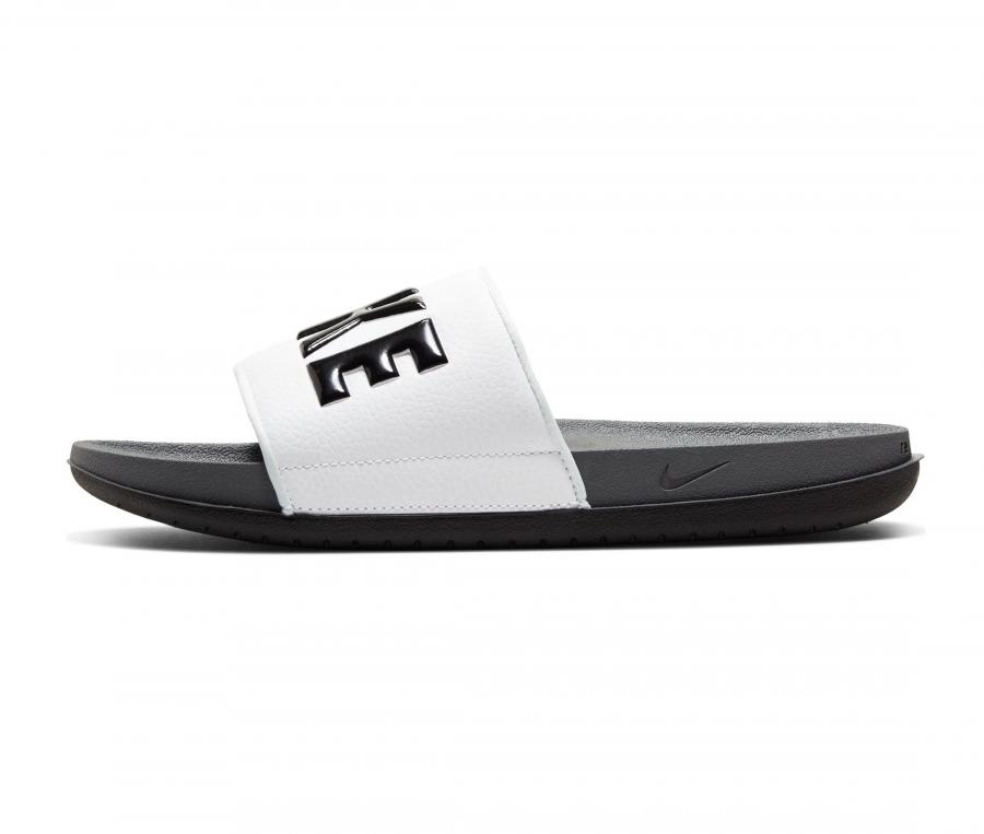 Sandales Nike Offcourt Slide Blanc/Gris