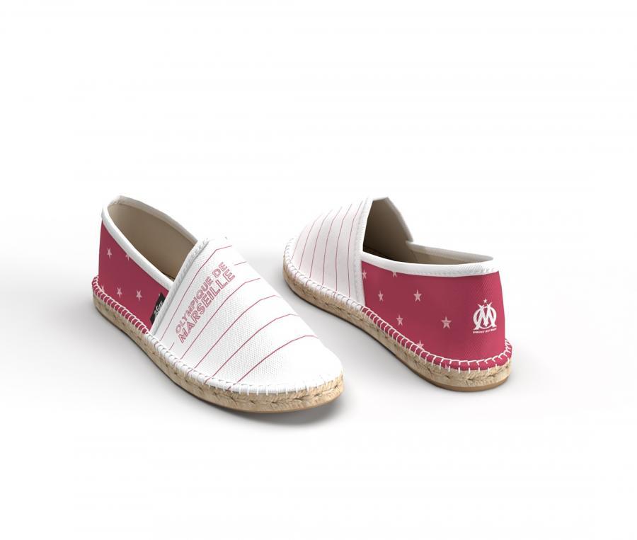 OM Fada Kid's Espadrilles White/Pink