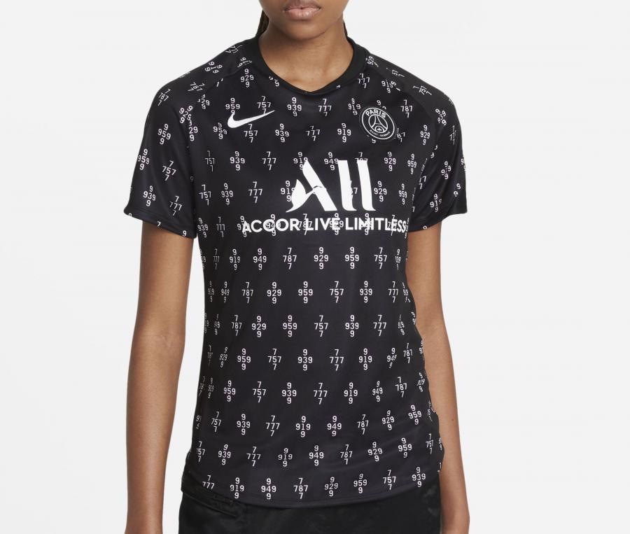 Maillot Pré-Match PSG Strike Noir Femme